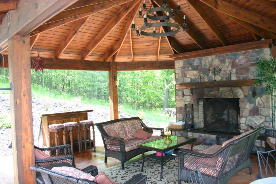 Water on hardwood floors wood floors for Outdoor gazebo plans with fireplace
