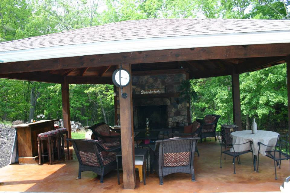Image gallery outdoor gazebo - Outdoor gazebo plans with fireplace ...